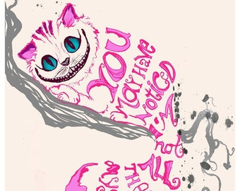 Minimalist Design - Alice in Wonderland Cheshire Cat