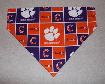 Clemson Tigers Dog Bandanna in Small, Medium, or Large