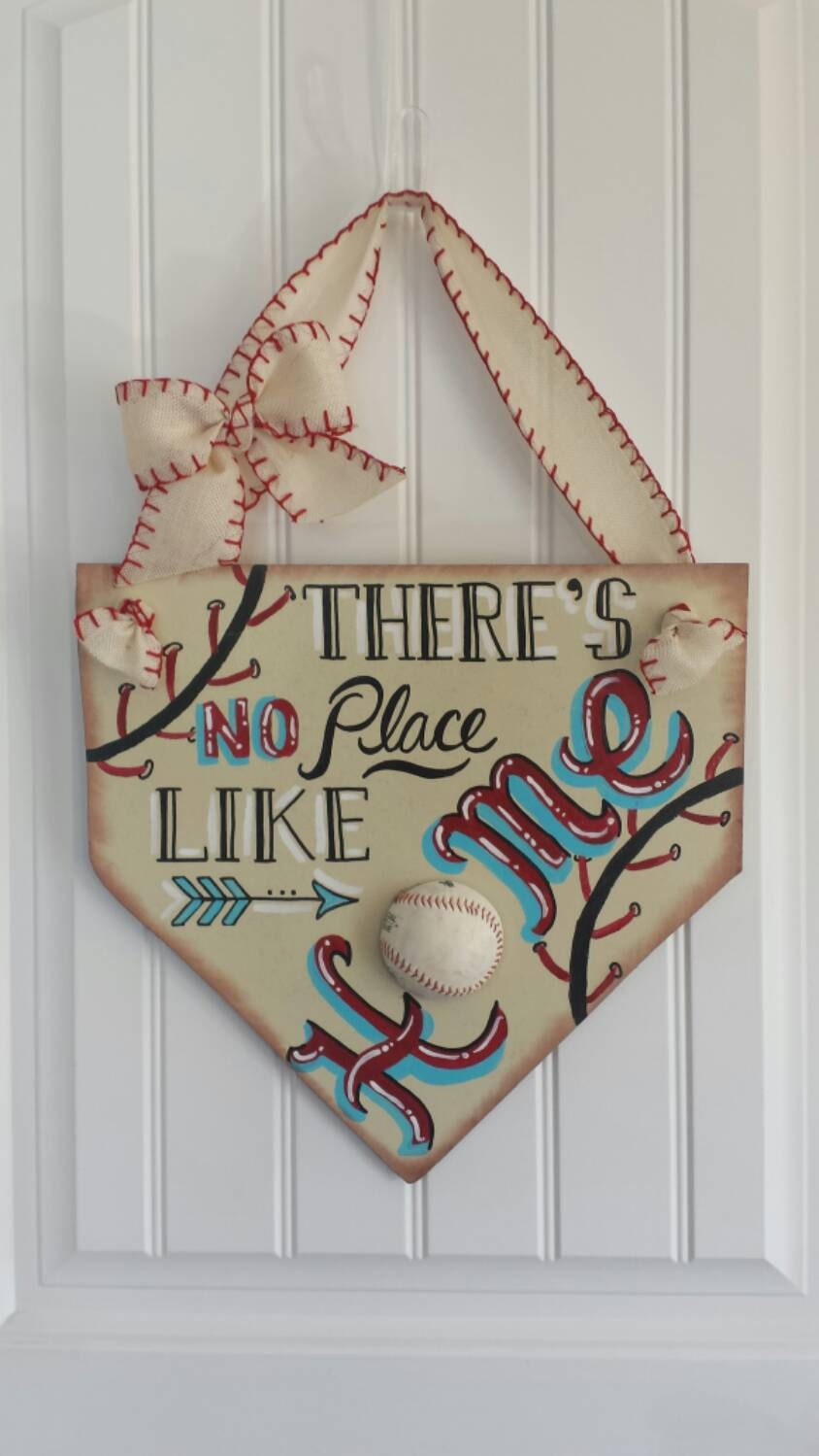 Https Www Etsy Com Listing 239900726 Baseball Decor Theres No Place Like Home