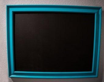 """Teal Blue Framed Chalkboard 22"""" X 28"""", Kitchen Chalkboard, Office Chalkboard, Wedding Chalkboard, Chalk Board"""