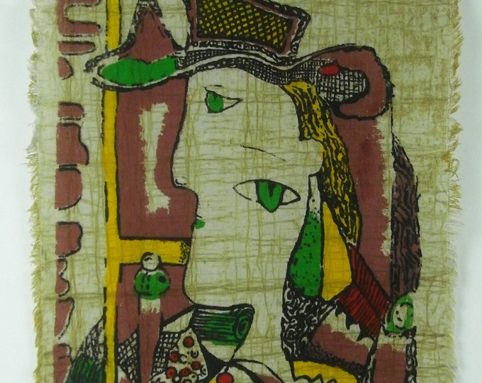 Picasso Series - Batik Tapestry Wall Decorative Painting 13 x 16 inches