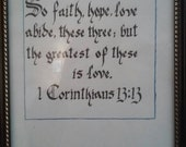 1 Corinthians 13:13 Calligraphy Print
