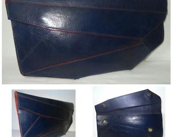 Lara Blue Asymmetrical Clutch