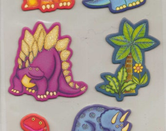 Studio112 DINOSAUR Adhesive Chipboard with glitter