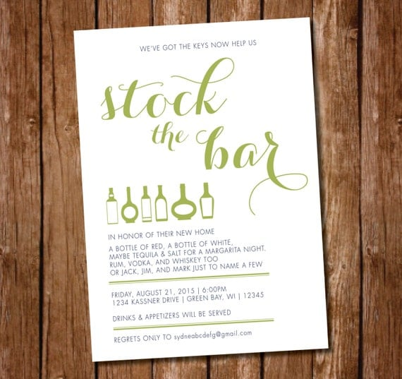 Stock The Bar Invitation Wording as Lovely Template To Create Unique Invitation Template