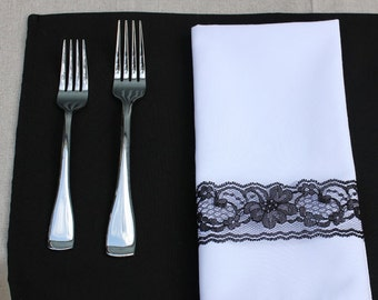 Black Placemat | Black Fabric Placemats for Weddings, Hotels, Catering Events and Restaurants