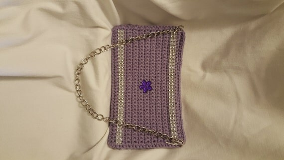 Crochet Cell Phone Purse : Crochet Cell Phone Purse w/Chain Cell Case by KnotJustCrochetHere
