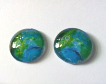 "Cabochon ""Duo Blue Green 02"""