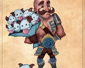 Say It With Poros // League of Legends BRAUM print poro cute