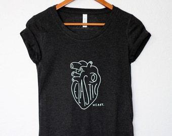 Women's Charcoal Tri-Blend T-Shirt // Sia Lyrics Design // Elastic Heart Shirt // Hipster Tee // Tumblr Shirt // Graphic Tee // Teen Shirt