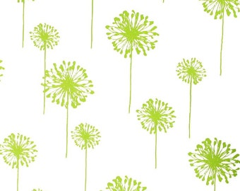 Green Valance. Dandelion Chartreuse Curtain. Green Window Topper.  Window treatment. Green and white. Designers pattern. Choose a size.