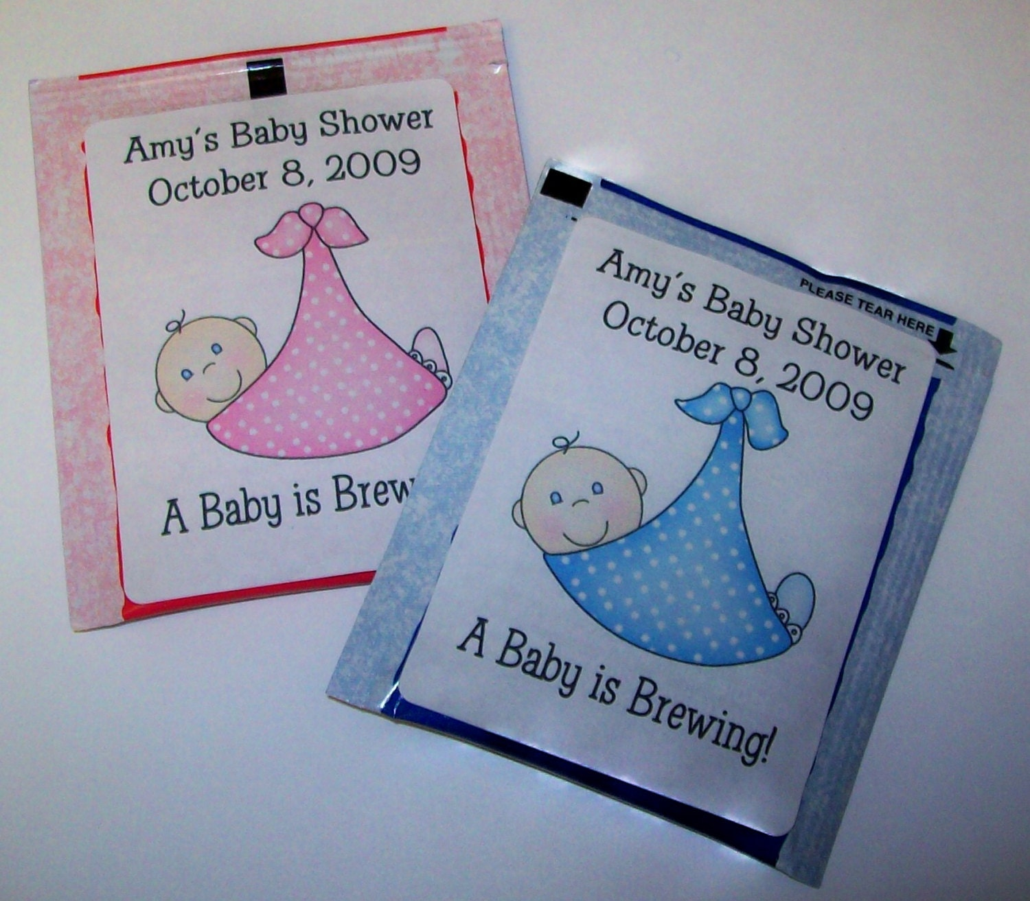 30 Baby Shower Favors Tea Bag Labels FREE SHIPPING
