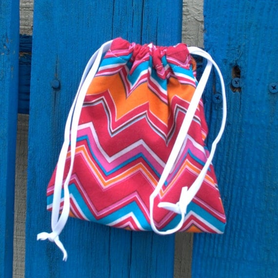 Jewelry bag drawstring small chevron pattern in by austinartsy for Drawstring jewelry bag pattern