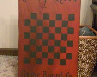 Primitive Wooden Gameboard