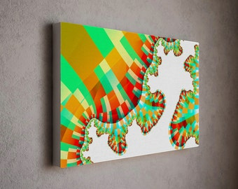 Modern wall canvas / modern art canvas print - bright playful composition with bold colors - abstract canvas art