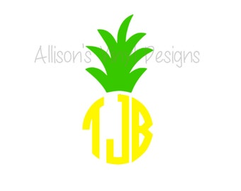 Pineapple Car Decal Laptop Decal Computer Decal