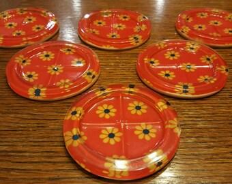 Retro Resin Coasters  (set of 6)