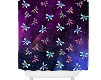 Space Shower Curtain Etsy