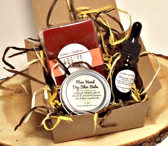 mens grooming gift set grooming box soap beard oil dry. Black Bedroom Furniture Sets. Home Design Ideas