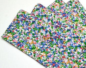 Napkins Floral Design Cotton Set of 4