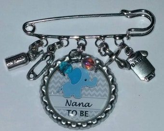 It's a boy Nana to be pin baby shower gift