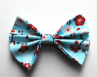 Cherry Blossom handmade fabric hair bow