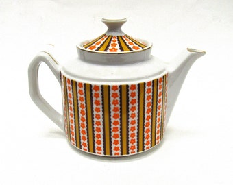 Vintage 1970's Floral Tea Pot