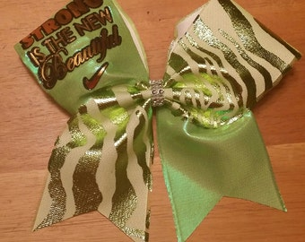 strong is the new beautiful cheer bow
