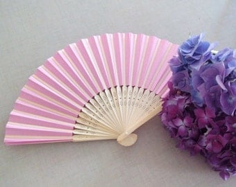 Eventail en papier rose, pink paper fan