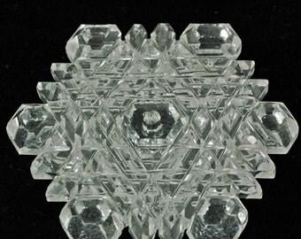 Manmade quartz, manmade quartz snowflake, synthetic quartz, quartz Christmas ornament
