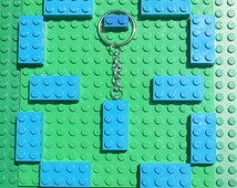 Turquoise Lego Keyring - New Lego Bricks - Office Gift - Gift Bags -Christmas Stocking Filler - Party Bag - Lego Keychain - Handbag Charms