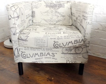 SALE Slip cover for the Ikea Solsta Olarp chair in Shabby chic print fabric.