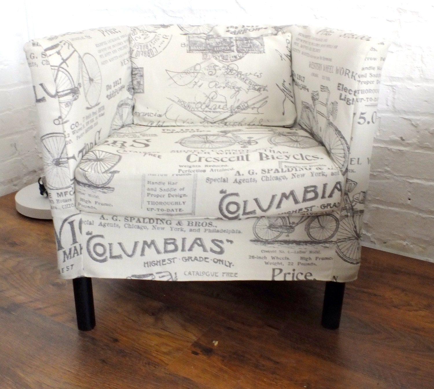 SALE Slip cover for the Ikea Solsta Olarp chair in Shabby chic