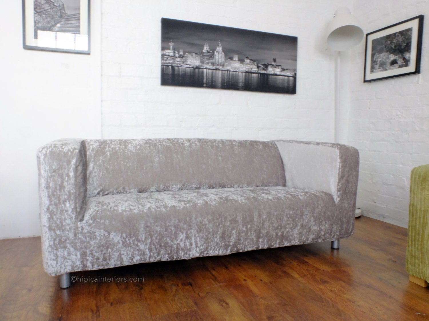 Slip cover for the ikea klippan 4 seat sofa luxury shimmer - Klippan sofa ikea ...
