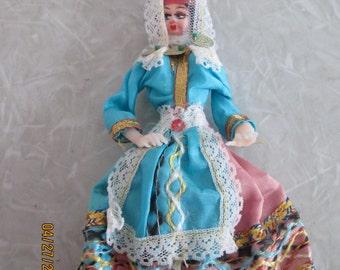 Ethnic Cloth Faced Doll