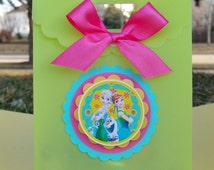 Frozen Fever Party Favor, Frozen Treat Bags ( This Price Is For A Single Bag)