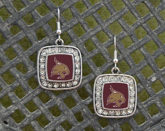 Texas State Bobcats Square Earrings