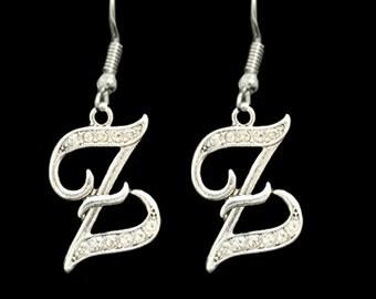 Z Initial Earrings