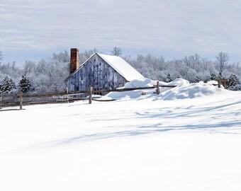 8 x 10 Original Photographic Print - Winter Countryside