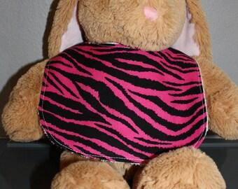 Pink Zebra Baby Gift Set Bib, Burp Cloth