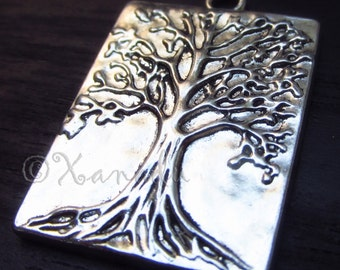 Tree Of Life Pendant Charms - 5/10 Large Wholesale Antique Silver Plated Necklace Charm Findings C1537