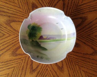 Vintage Meito Hand Painted Porcelain Bowl - Made in Japan - 1908 to 1939