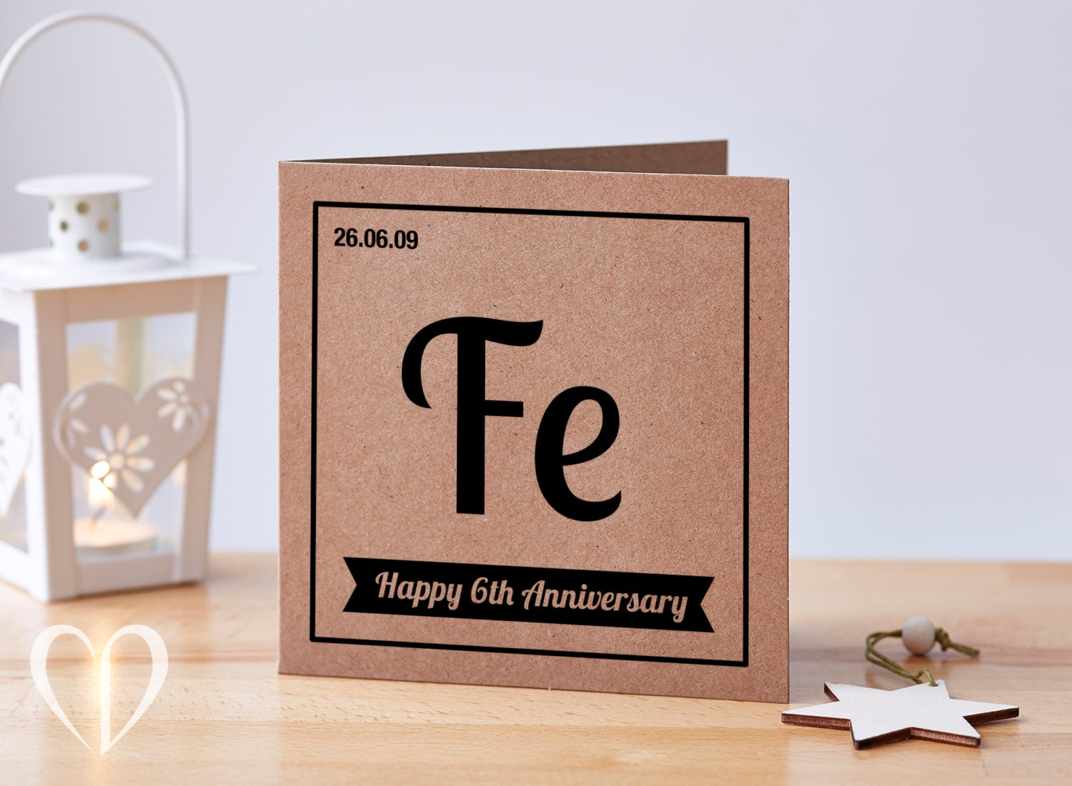 Sixth Wedding Anniversary Gift: Personalised 6 Year Anniversary Card 6th Anniversary Card