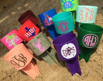 Beach Spikers. Large beach spike. Monograms, logos, names, or sayings. Beach spikes assorted colors.