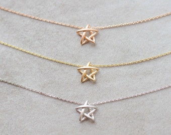 Star Drawing Necklace