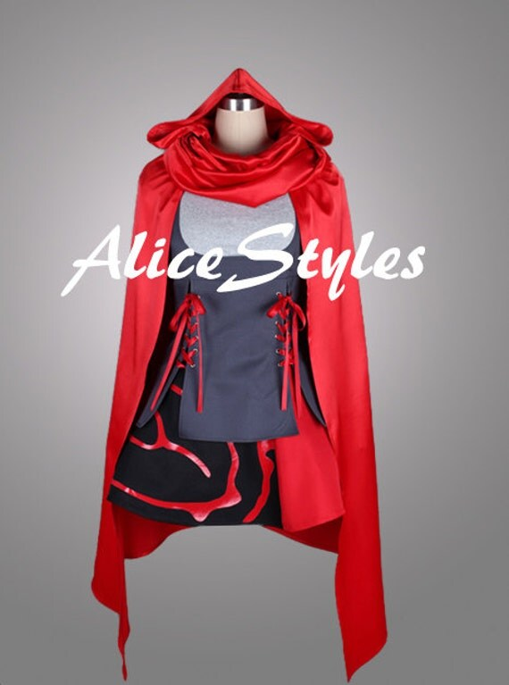 Ruby Rose Rwby Dress Rwby Ruby Rose White With Red