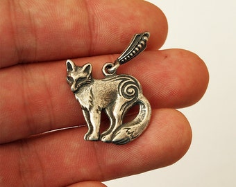 Fox necklace, Fox pendant, Fox jewelry, Foxes, Jewelry, Necklace, Pendant, Silver necklace, SIlver pendant, Silver 925, Silver jewelry, Fox
