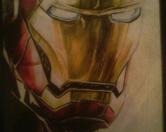 Hand drawn Iron Man