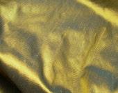 "Olive Brass: Silk Dupioni Fabric, 18"" x 26"""