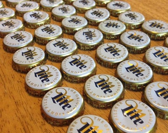 50 Miller Lite Bottle Caps